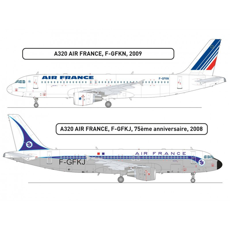 airbus a320 air france heller 1 125 p gombotec webshop. Black Bedroom Furniture Sets. Home Design Ideas